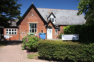 Lawshall - All Saints Primary School  - the centre of the village