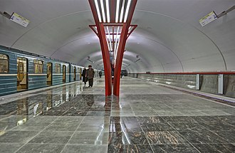 Alma-Atinskaya (Moscow Metro) - Image: Alma Atinskaja 20121224 fuse