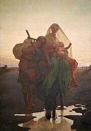 Almeida J�nior: A fuga para o Egito, 1881