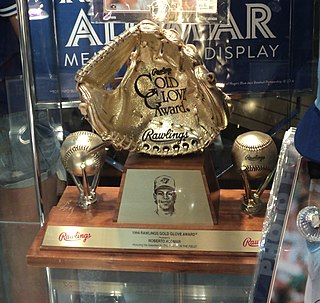 Rawlings Gold Glove Award baseball award given annually to the best fielder at each position in each league in MLB