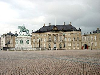 Margrethe II of Denmark - Princess Margrethe's birthplace: Frederik VIII's Palace at Amalienborg, photographed in 2006