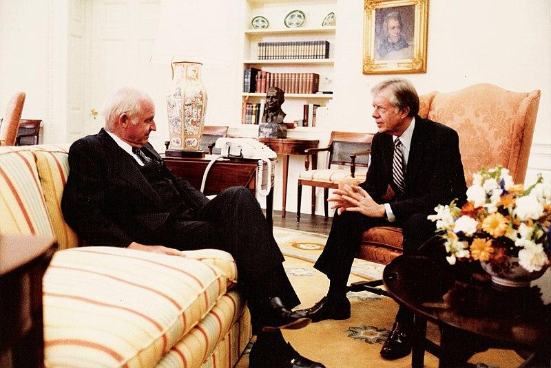 File:Ambassador John West with President Carter.jpg