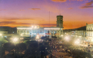 View of the main plaza of Ameca.