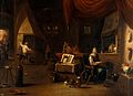 An alchemist in his laboratory. Oil painting. Wellcome V0017682.jpg