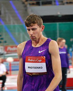 Andriy Protsenko Ukrainian high jumper