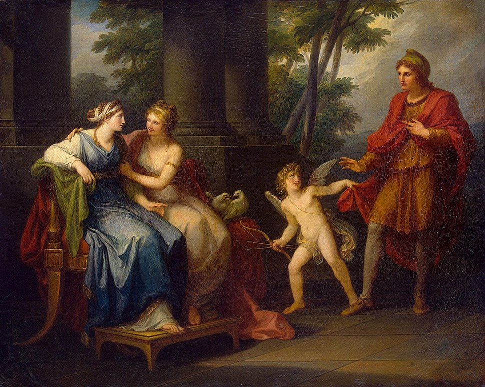 Angelica Kauffmann - Venus Induces Helen to Fall in Love with Paris - WGA12099