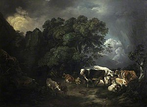 Anne Margaret Coke, Viscountess Anson - Image: Anne Margaret Coke, Animals Sheltering in a Storm, Shugborough Hall, National Trust