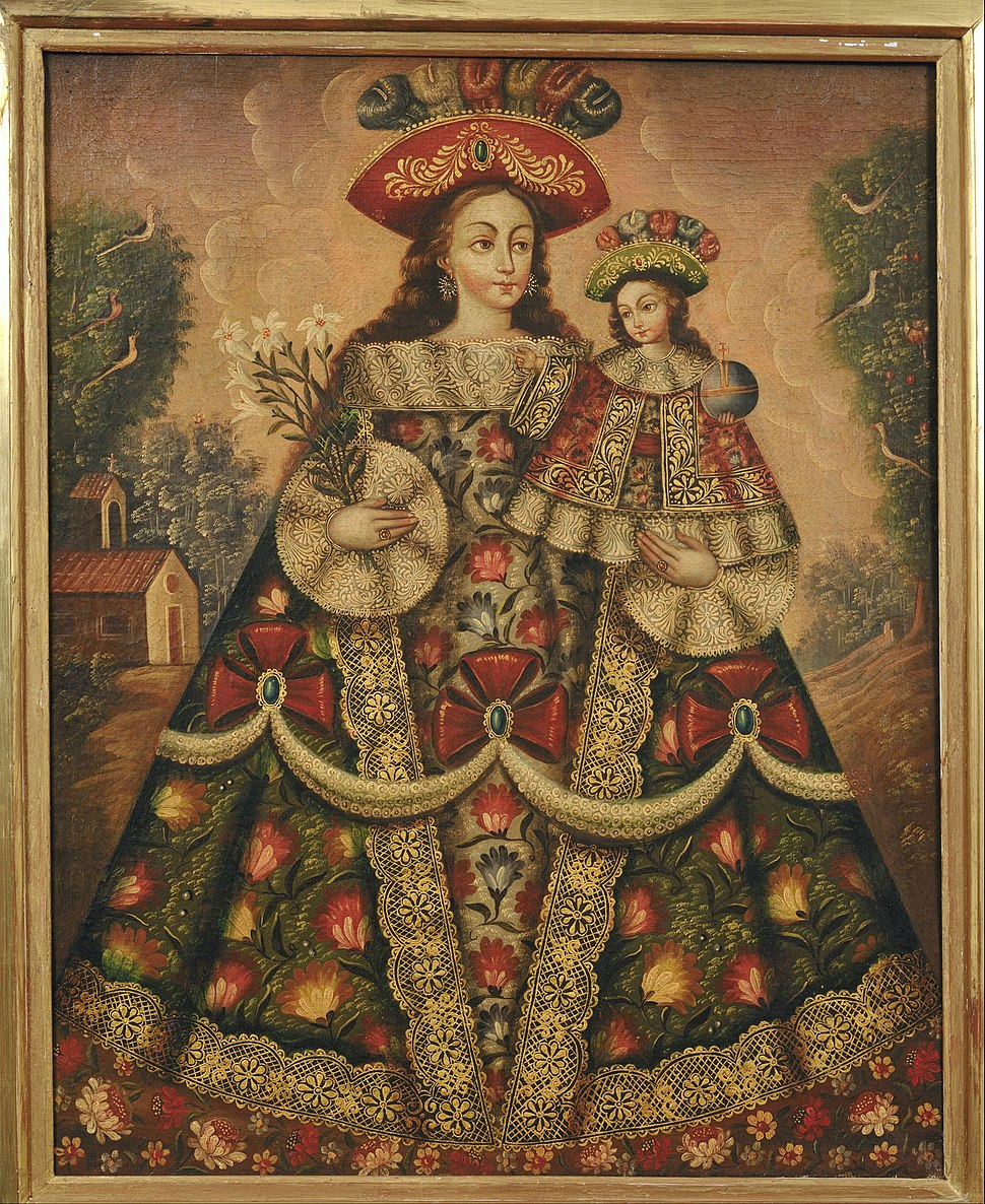 Anonymous, Cuzco School, Peru - The Virgin of the Pilgrims and Child - Google Art Project
