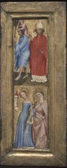 St. Christopher and St. Erasmus; St. Barbara and another female saint