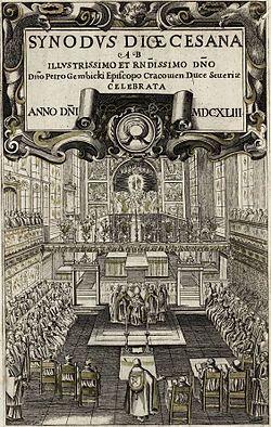 Anonymous Diocesan synod in Kraków's Saint Mary's Church.jpg
