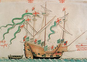Andrew Dudley - The carrack Pauncy from the Anthony Roll