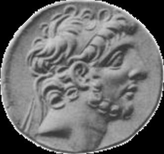Antiochus IX Cyzicenus - Image: Antiochus IX face