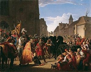 Wenzel bittet Rudolf von Habsburg um die Leiche seines Vaters Przemysl Ottokar