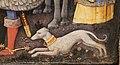 Antonio vivarini e giovanni d'alemagna, adorazione dei magi, 1425-30 ca. 21 levriero.JPG