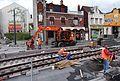 Anzin & Valenciennes - Travaux de raccordement des lignes A & B du tramway de Valenciennes à la Croix d'Anzin le 19 août 2013 (17).JPG