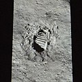 Apollo 11 50th annivesary footprint, Washington Monument.jpg