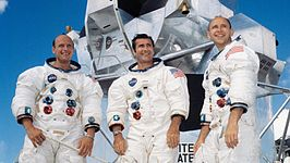 Bemanning van Apollo 12 (v.l.n.r. Pete Conrad, Richard Gordon, Alan Bean)