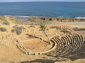 Apollonia, Cyrenaica - The ancient theatre of Apollonia.