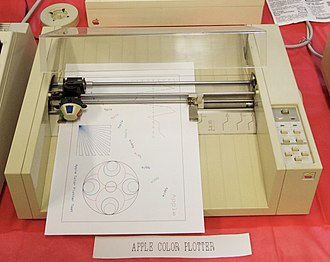 Apple 410 Color Plotter - Working Apple Color Plotter with self-test sheet in 2012