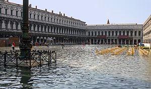 Acqua alta - Venice: acqua alta in the Piazza San Marco.