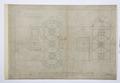 Arbetsritningar, fastigheten nr 4 Hamngatan. Nedre och övre vestibulen - Hallwylska museet - 105308.tif