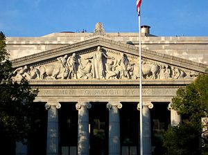 Architectural sculpture - sculpted pediment