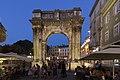 Arch of the Sergii at night, 2015 Pula, Croatia - panoramio (13).jpg