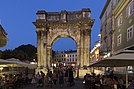 Arch of the Sergii at night, 2015 Pula, Croatia - panoramio (13).jpg
