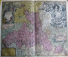 Diese Karte aus dem Jahr 1715 zeigt in rosa das Fürsterzbistum Salzburg (Quelle: Wikimedia)