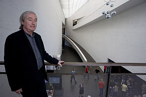 Steven Holl - Architect Steven Holl on the second-floor balcony of Kiasma in 2008