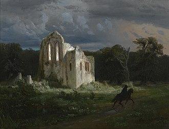 Arnold Böcklin - Image: Arnold Böcklin Mondscheinlandschaft mit Ruine