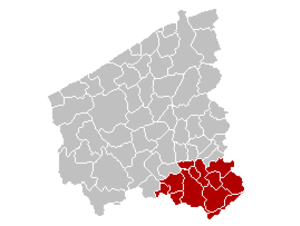 West Flanders - Image: Arr Kortrijk Location