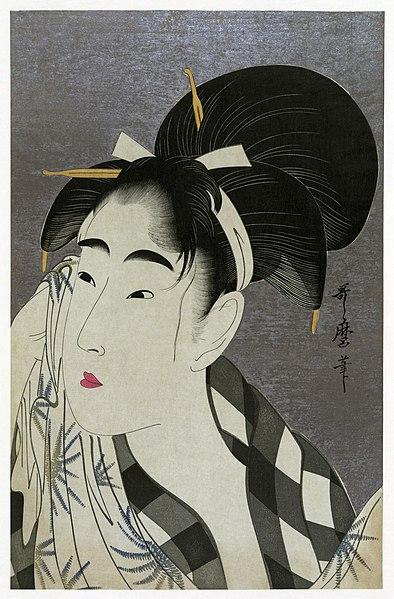 UTAMARO Kitagawa Woman wiping sweat 1798