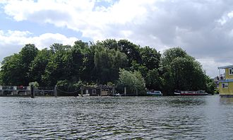 Ash Island - Ash Island from upstream