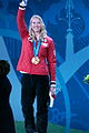 Ashleigh McIvor on the podium at 2010 Winter Olympics.jpg