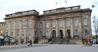 Ashton Town Hall public building in Ashton-under-Lyne, England