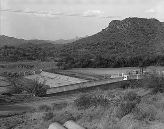 Carl Hayden - Ashurst-Hayden diversion dam, part of the San Carlos Irrigation Project.