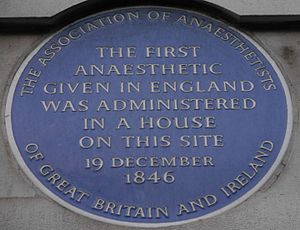 Association of Anaesthetists of Great Britain and Ireland - Blue plaque, London