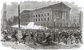 Astor Place Riot 19th century theatre-related riot in Manhattan