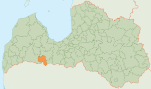 Auce Municipality - Image: Auces novads karte