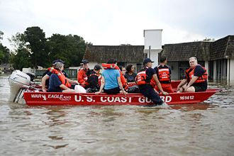 2016 Louisiana floods - The US Coast Guard rescuing Baton Rouge residents following the floods