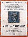 August von Pettenkofen plaque Szolnok Szent István tér5.jpg