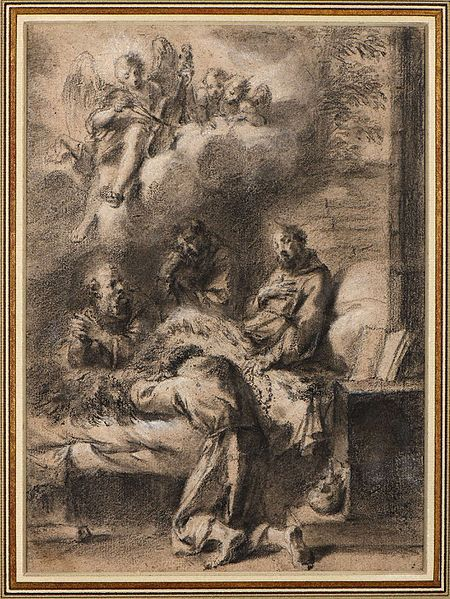 File:Aureliano-Milani-The Death of Saint Francis ater Annibale Carracci.jpg
