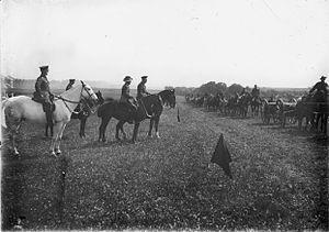 3rd Machine Gun Battalion (Australia) - 3rd Machine Gun Battalion on parade, 1918