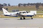 Australian Airline Pilot Academy (VH-XEK) Piper PA-28-161 Cherokee Warrior III taxiing at Wagga Wagga Airport.jpg