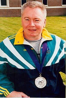 Australian paralympic powerlifter, Brian McNicholl, at the Atlanta 1996 Paralympic Games.jpg