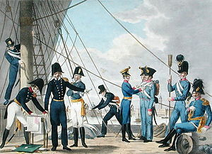 Austro-Hungarian Navy - Officers and men of the Austrian Navy in 1820.