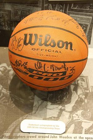1994–95 UCLA Bruins men's basketball team - Autographed ball by 1995 NCAA championship team