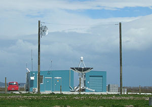 Awarua Tracking Station - Awarua Tracking Station, with 3.5m diameter tracking antenna deployed.