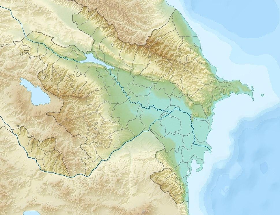 Azerbaijan relief location map